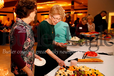 Meals on Wheels volunteers and staff celebrate 50 years in Butler with an anniversary dinner banquet Tuesday night at the Butler Days Inn. Seb Foltz/Butler Eagle