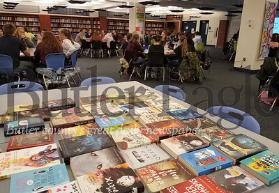 """SV reading:"" ""Students from across Western Pennsylvania competed Thursday in the Butler County Reading Competition, held at Seneca Valley. Students read 16 books over the course of six months to prepare for the event."" Photo by Samantha Beal."