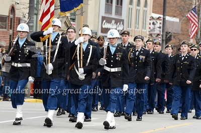 Harold Aughton/Butler Eagle: Members of the Seneca Valley ROTC marched in the Butler Veteran's Day Parade, Mon., Nov. 11.