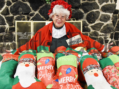 Harold Aughton/Butler Eagle: Sharon Schneider of Butler, as Mrs. Claus.