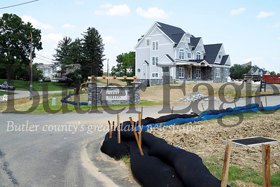 Cypress Fields construction site in Adams Township. Photo taken July 2019. Seb Foltz/Butler Eagle