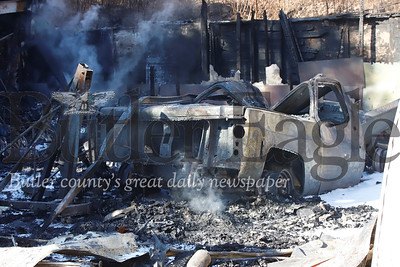 1978 GMC High Sierra destroyed in secondary fire Saturday Morning. Seb Foltz/Butler Eagle