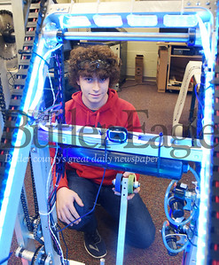 Harold Aughton/Butler Eagle: Knoch Senior Howard Hunt has been part of the robotic program for the past four years.