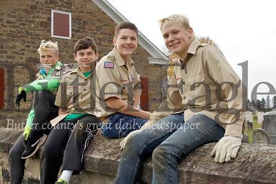 Left to right: Gator Martineau, 15; Tyler Rasmussen, 13; Greyson Jones, 14; and Jessie James Martineau. Seb Foltz/Butler Eagle