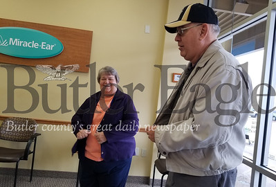 George and Carol Pyle of Franklin Township were left speechless after being informed at George's Wednesday morning appointment at the Butler Miracle Ear that they won a luxury Hawaiian cruise in a nationwide company sweepstakes. More than 16,000 Miracle Ear patients entered the sweepstakes.