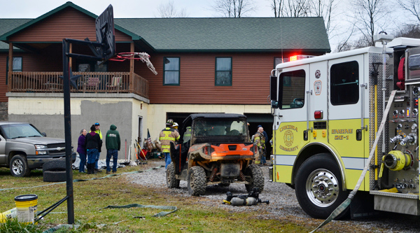 No one was harmed in a house fire on Kamerer Road in Donegal Township Friday afternoon. Tanner Cole/Butler Eagle