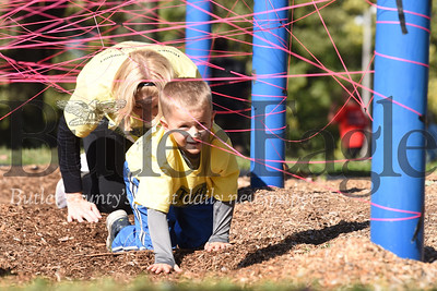 Competitors of all ages gathered at Alemeda Park Saturday for the second annual Tuff Tornado Run. The Tough-Mudder-style race included a variety of obstacals on a 2-mile course set up near the swimming pool. The event benefits the Golden Tornado Scholastic Foundation. Seb Foltz/Butler Eagle