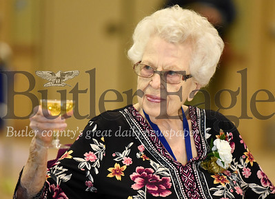 Harold Aughton/Butler Eagle: Irene Gewolb, 101, took part in the Celebrating Life Cenenarian Celebration at the Lutheran Services in Zeilienople, Friday, Sept. 27.