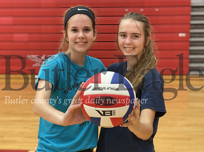 Seniors Annika Peale, left, and Taylor Balint