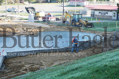 Photo by J.W. Johnson Jr.Work is ongoing at the Zelienople Memorial Skatepark.