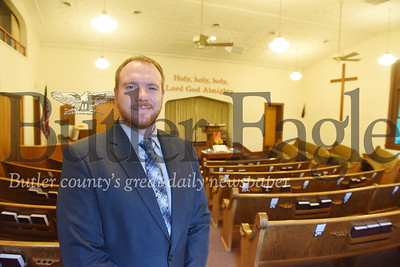 Harold Aughton/Butler Eagle: Pastor Ben Oesterling of the Mt. Zion Baptist Church.