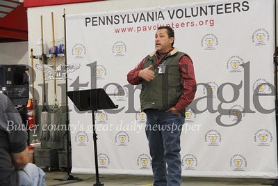 Butler  County Commissioner Kevin Boozel addresses attendants of Saturday's flood disaster workshop. Photo by Eric Jankiewicz