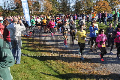 Runners set off for the half-marathon in Cabot for the Butler-Freeport ru on Saturday. Photos Eric Jankiewicz
