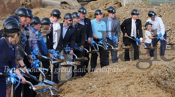 Photo by J.W. Johnson Jr.Seneca Valley School District officials break ground on the district's new aquatics center.