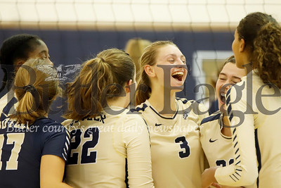 Butler girls celebrate a 3-1 home win over Mars Monday night. Seb Foltz/Butler Eagle