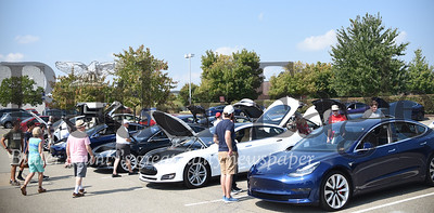 Over 50 electric vehicles rolled up to the sixth annual Go Green Electric Car Show in Cranberry Township Saturday afternoon. Tanner Cole/Butler Eagle