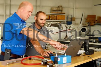 ____  and Matt Steele (right) director of maintenance Seb Foltz/Butler Eagle