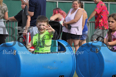 Butler Fall Fest included barrel train rides, a bouncy house, bungee trampolines and other kid friendly activities. Seb Foltz/Butler Eagle