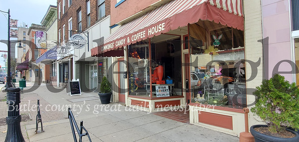 Cummings Candy & Coffee storefront on Butler's Main Street. Nathan Bottiger/ Butler Eagle