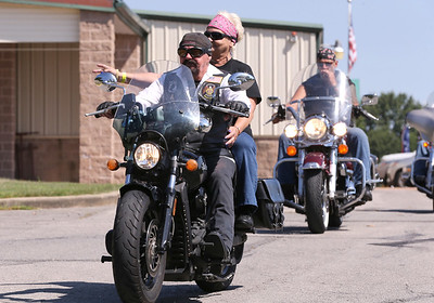 American Legion Ridgers kick off Saturday's annual Veterens Benefit Ride Hosted by the Butler County chapter of the riders at Legion Post 778 in Butler. Seb Foltz/Butler Eagle 08/08/20
