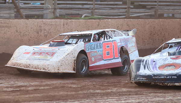 Mike Miller, 81 car, racing at Lernerville Friday 08/14/20. Seb Foltz/Butler Eagle