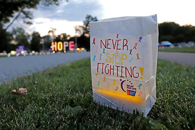 American Cancer Society luminary fund raiser in Cranberry Community Park Saturday. Seb Foltz/Butler Eagle
