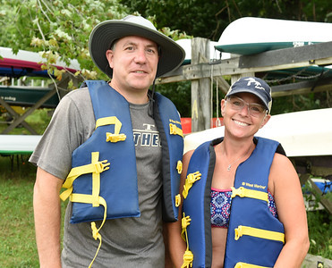 Harold Aughton/Butler Eagle: Bill and Kerry Baur of Cranberry Twp. took part in the Moraine Saling Clubs learn how to sail event Saturday, August 15, 2020.