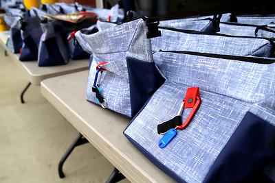 Cranberry Community Response team school supply bags. Seb Foltz/Butler Eagle