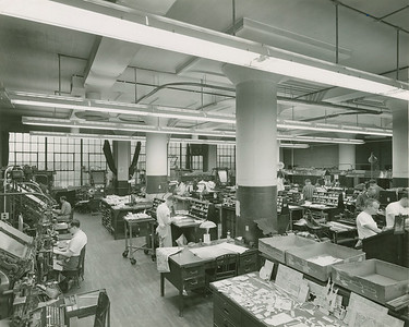 Eagle File Photo. Butler Eagle Composing Room November 22, 1960