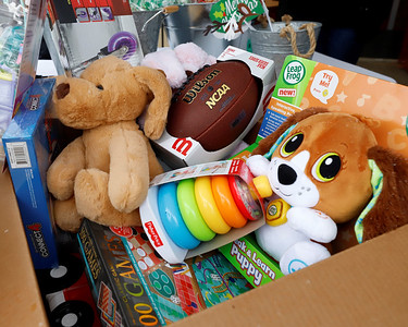 Toys collected at MSA Safety Inc. Best of the Batch Foundation toy drive collection Tuesday in Cranberry. Seb Foltz/Butler Eagle 12/01/20