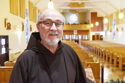 Father Ward Stakem  of St. Mary's of the Assumption in Herman. December 1, 2020. Harold Aughton/Butler Eagle