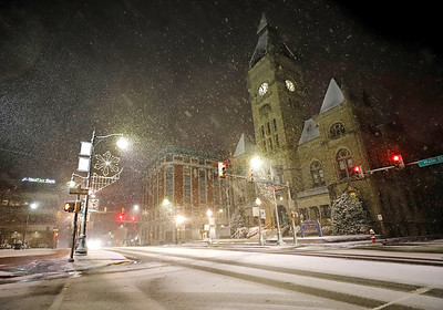 Butler County Court House during Tuesday's storm. Seb Foltz/Butler Eagle 12/01/20
