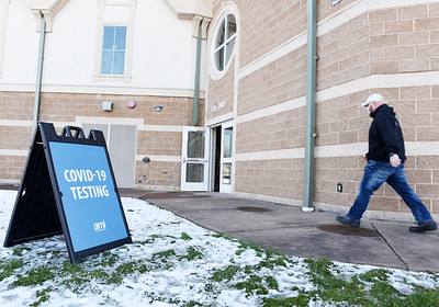The Pennsylvania Department of Health held a free drive-thru and walk-in COVID testing clinic at the Michelle Krill Field, 100 Pullman Park Place on Friday, December 4, 2020. Harold Aughton/Butler Eagle.