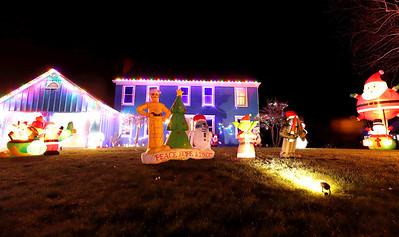 Christmas lights at the home of Korene and Justin Murdie in Saxonburg. 205 Janice Lane. Seb Foltz/Butler Eagle