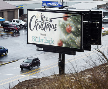 Butler Eagle advertisers now have another option to advertise with the installation of the company's new digital billboard along Route 8. Harold Aughton/Butler Eagle.