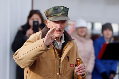 Karl Herold WWII Vet turned 100.  Caption to be added. Seb Foltz/Butler Eagle