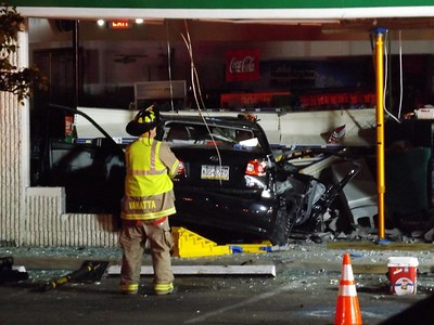 A car crashed into the CoGo's in Middlesex Township Sunday morning around 12:30 a.m. State police and emergency serviceds were on the scene including a helicopter which landed on Route 8. Steve Sybert/Submitted photo