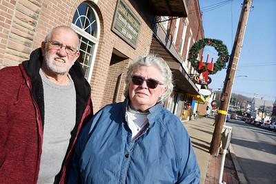 Evans City Mayor, Dean Zinkhann, and borough council president, Cheri Deener. December 10, 2020. Harold Aughton/Butler Eagle.