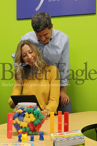 """BIZ Sylvan"" Option 1:""Andrea and David Shilling opened a Sylvan Learning center in Cranberry Township's Regional Learning Alliance Feb. 6. The couple hopes to build confidence in local students by providing them with supplemental learning resources and helping them become successful learners."" Photo by Samantha Beal."