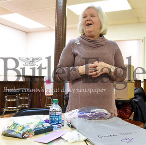 Harold Aughton/Butler Eagle: Kathy Nee reflects her journey to create bags for the homeless in honor of her daughter?