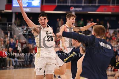 Butler Basketball team celebration.