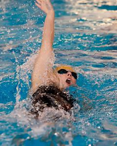 Laura Goettler, Butler, 200 IM individual swimming backstroke.  WPIAL Championships at University of Pittsburgh Thursday. Seb Foltz/Butler Eagle 02/27/20