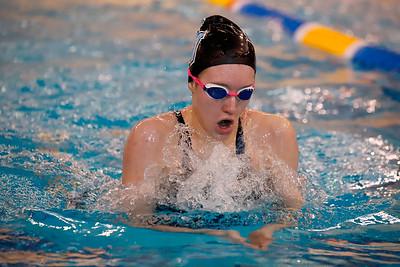 Kendall Craig, Seneca Valley, 200 IM individual swimming breast stroke. WPIAL Championships at University of Pittsburgh Thursday. Seb Foltz/Butler Eagle 02/27/20