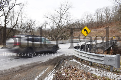 Harold Aughton/Butler Eagle: The Bridge crossing the Connoquenessing Creek on McCalmont Road in Butler Twp. was part of the Pennsylvania Rapid Bridge Replacement Project.