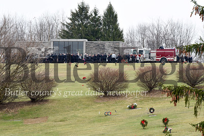 Harold Aughton/Butler Eagle: The funeral for Cranberry firefighters and brothers, Mark Nanna and Lee Nanna was held Tuesday, January 14, 2020.