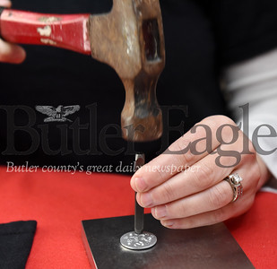 Harold Aughton/Butler Eagle: Rachelle Savannah Haberberger of Sarver works on a piece jewelry.