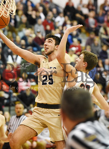 Harold Aughton/Butler Eagle: Butler's Ethan Morton laysup his 2001 point in the second quarter against North Hills.