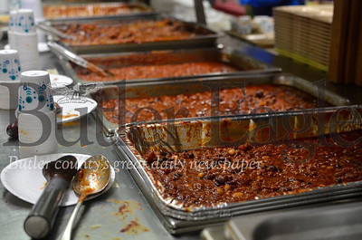 Nine organizations donated 5 gallons of chili each for this year's chili cook-off at Saint Andrews United Presbyterian Church. Extra chili was frozen and saved to be served in community meals that the church hosts weekly on Wednesday night. Tanner Cole/Butler Eagle