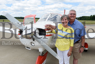 Harold Aughton/Butler Eagle: Carl and Sharon Baker of Lancaster Twp. with their new Cherokee Piper Warrior plane they won in a raffle from the Wings of Hope.
