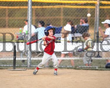 Jacob Ruck, 6,  Cranberry Township little league at Grahm park Thursday. Seb Foltz/Butler Eagle